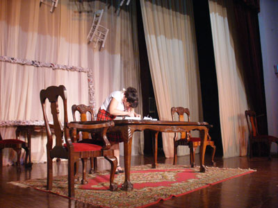 forkis theatre group dress rehearsal - the dining room - stage