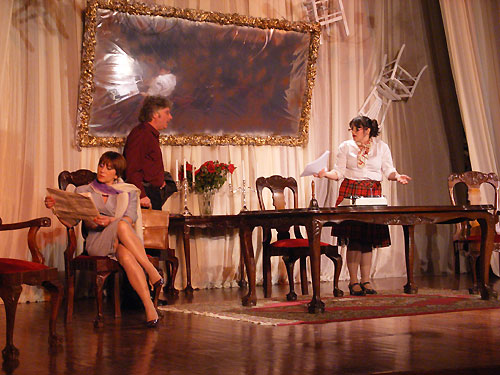 Forkis theatre group dress rehearsal the dining room stage play on ithaca greece - Dining room play ...