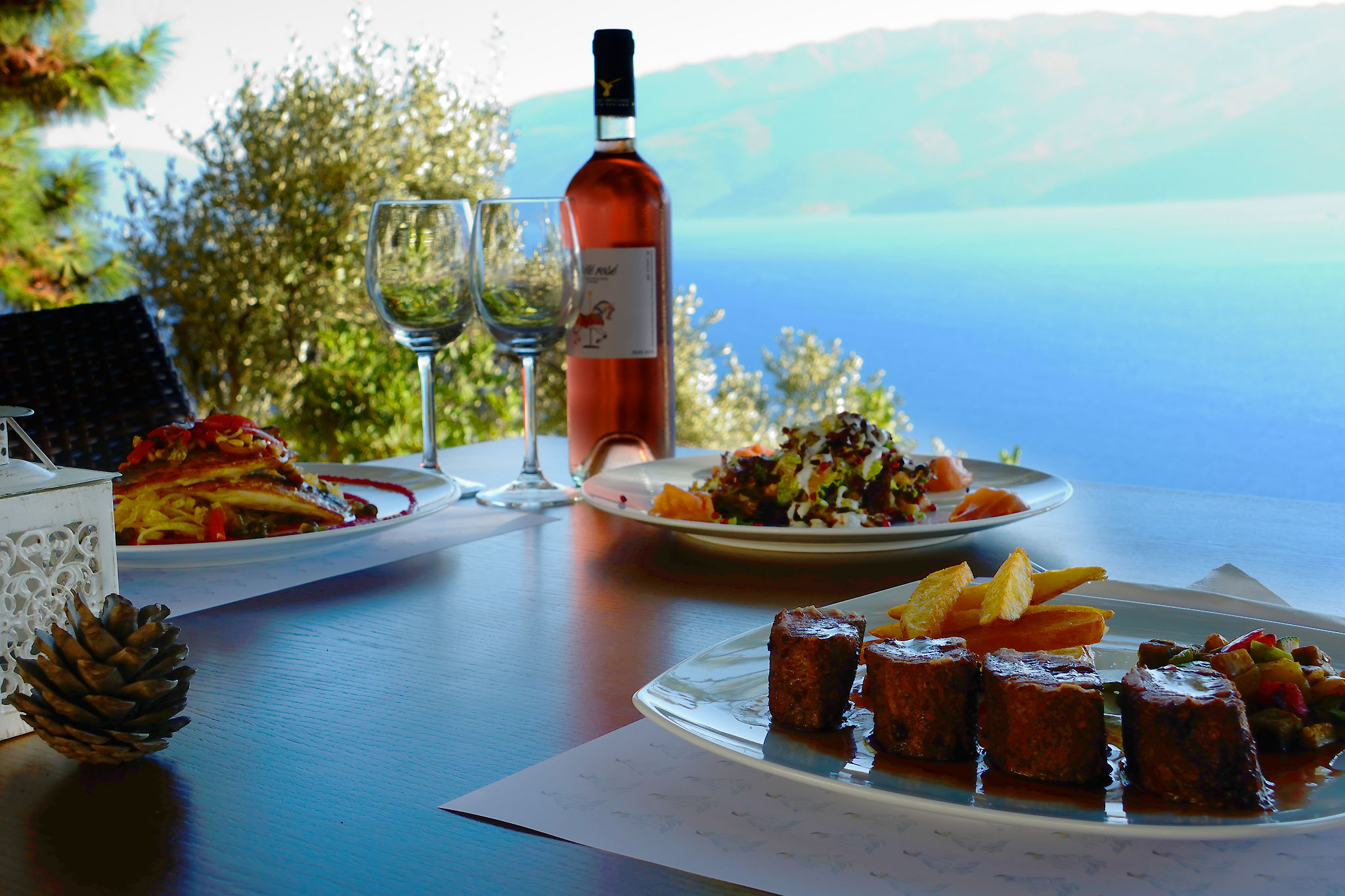 Dona Lefki. Restaurant in the village of Lefki on Ithaca Greece ...